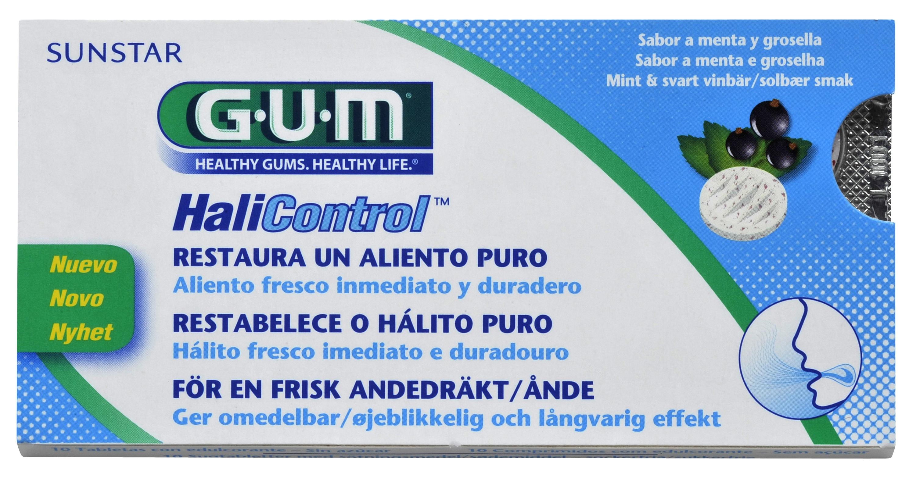 GUM Halicontrol, sugetablet, 10 stk