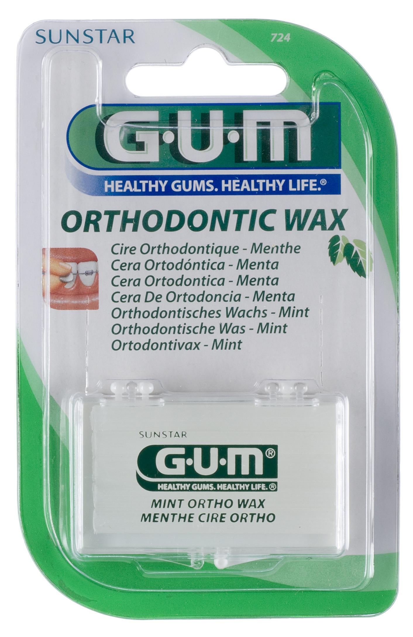 GUM Ortho+, voks, 5 stk