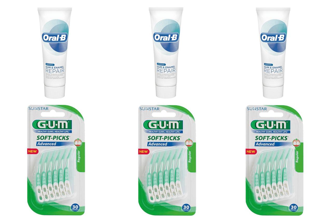 Oral-B Glide,Gum & Enamel/Soft-Picks Medium-3stk