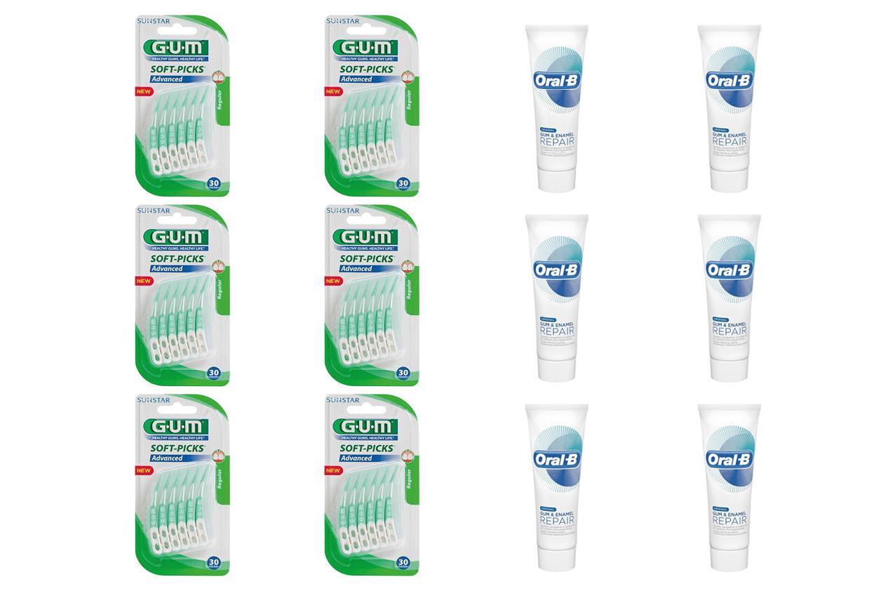 Oral-B Gum & Enamel/Soft-Picks, Advanced, Medium-6stk